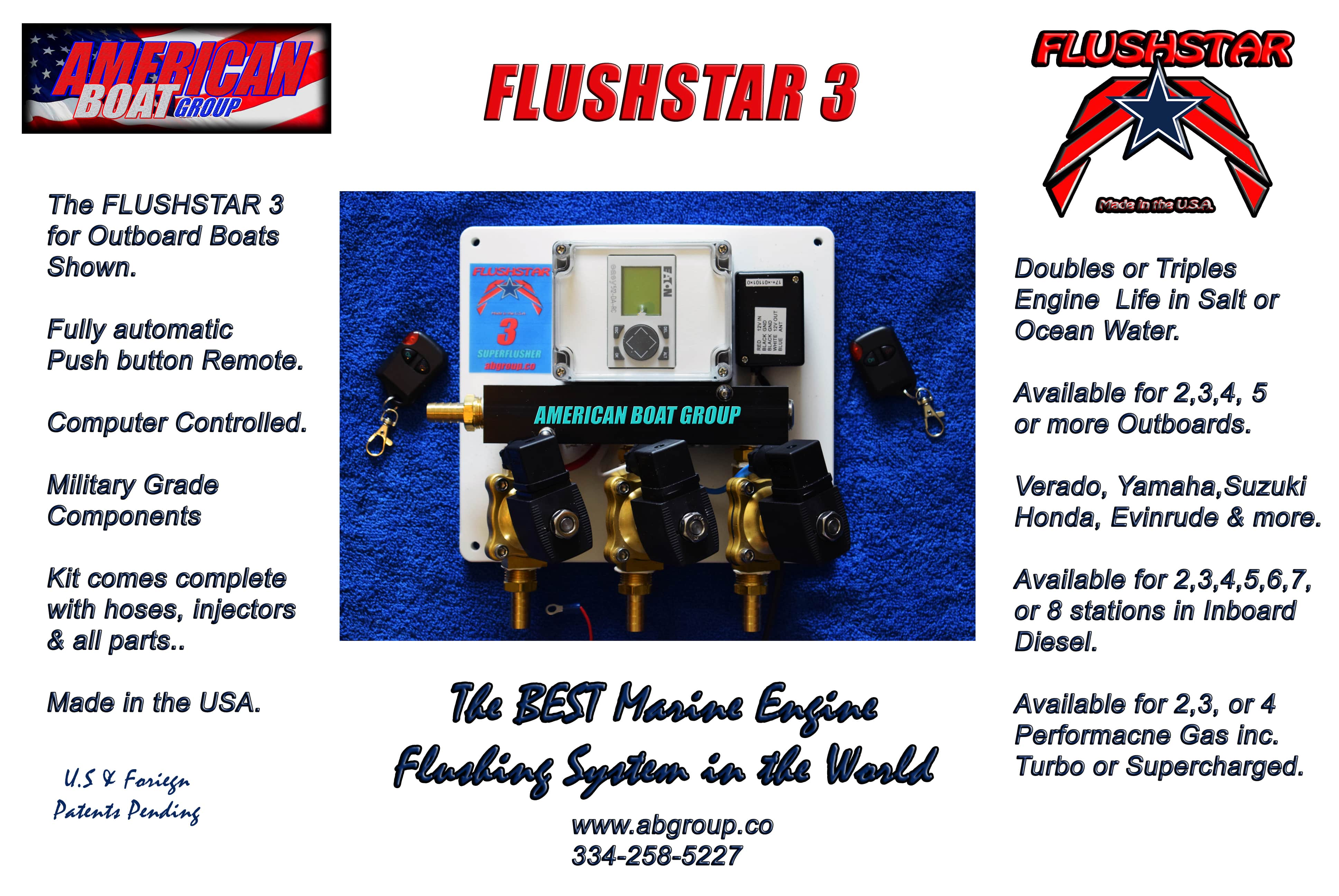 FS-3 FLUSHSTAR Auto Flusher for Triple O/B