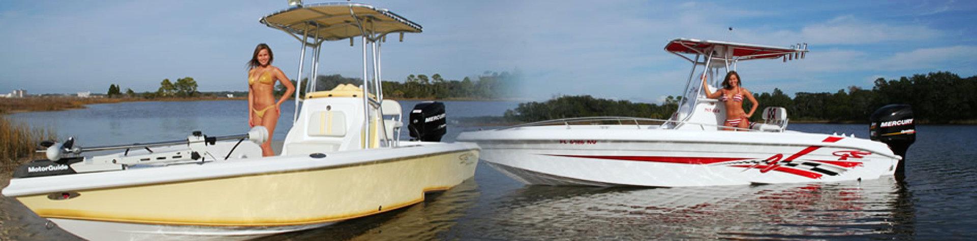 model in boat